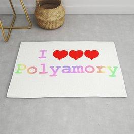 I love polyamory Rug
