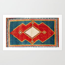 Qashqa'i  Southwest Persian Gabbeh Print Art Print