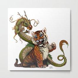 Tiger and Dragon Metal Print