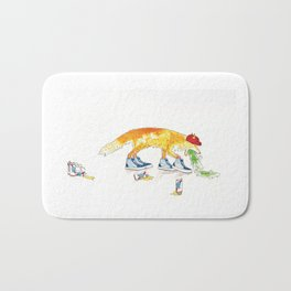Drunk Fox Bath Mat