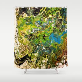 Forestry Stream Shower Curtain