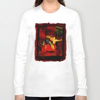 boxing Long Sleeve T-shirts featuring Boxing Sagittarius by Genco Demirer