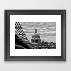St.Paul's Cathedral in monochrome Framed Art Print