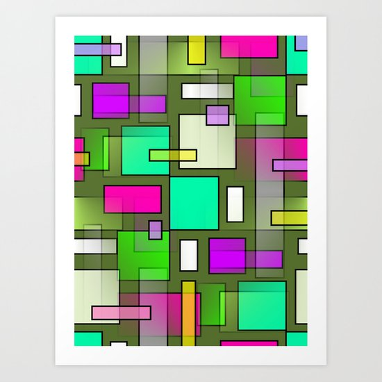 Color Structure Art Print