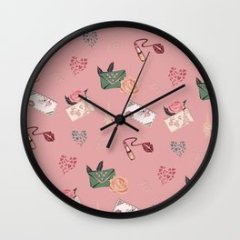 Write Me A Love Letter Wall Clock
