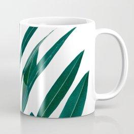 Green and White Botanical Leaves Coffee Mug