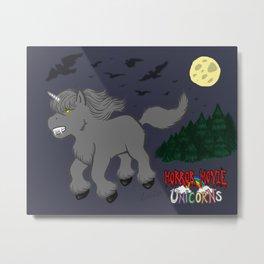 Horror Movie Unicorns: Wolfman Metal Print