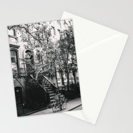 New York City - West Village Street and Bicycles Stationery Cards