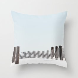 Linear Winter Throw Pillow