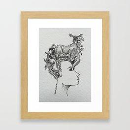 le biche Framed Art Print