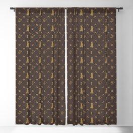 Louis Pitbull Luxury Dog Bling Pattern Blackout Curtain