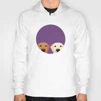 lab Hoodies featuring Tan Lab & Yellow Lab by Anne Was Here