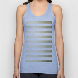Simply Striped Gilded Palace Gold Unisex Tank Top