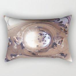 Reflecting, Under Cloud Gate, Chicago Rectangular Pillow