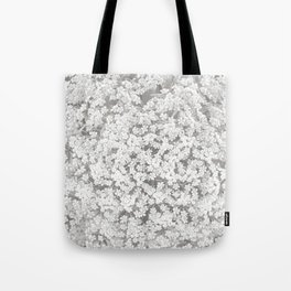 Queen Anne's Lace Flower in Soft Sepia Tones Tote Bag