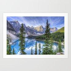 Moraine Lake #landscape #photography Art Print