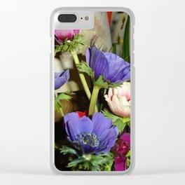 Un bouquet d'anémones Clear iPhone Case