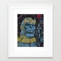 thanos Framed Art Prints featuring Thanos of Titan by GraphixRob Studios