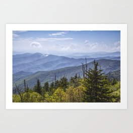 View from Clingman's Dome 01 Art Print