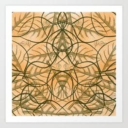 Jungle Forest Camping Leaf Print Art Print
