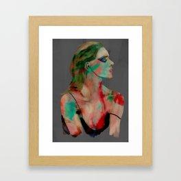 painted girl 1 Framed Art Print