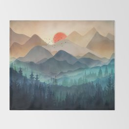 Wilderness Becomes Alive at Night Throw Blanket