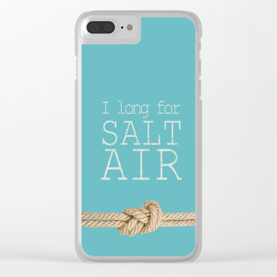 Beach Series Aqua - Beach Saying on turquoise background 2 on #Society6 Clear iPhone Case