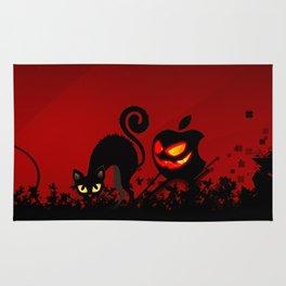 NIGHTMARE CAT WITH APPLE Rug