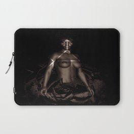 Black Queen Artistic Nude African American Woman  Rose  Laptop Sleeve