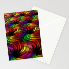 Rainbow Swirls Stationery Cards
