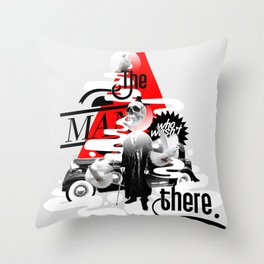 The man who wasn't there Throw Pillow