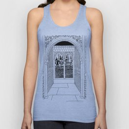 Alhambra Interior, Granada, Spain Unisex Tank Top
