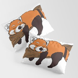 Animal Lover Gift Lazy Red Pandas Nothing On The List T-Shirt Pillow Sham