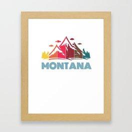 Retro Montana Design for Men Women and Kids Framed Art Print