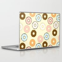 donuts Laptop & iPad Skins featuring Donuts by Sara Showalter