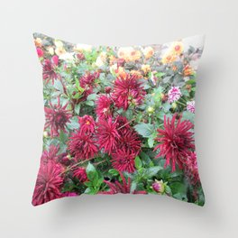 St. Andrews Flowers Throw Pillow