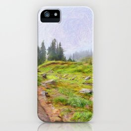 Trail in paradise morning iPhone Case