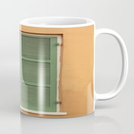 Green Shutters - Colorful Architecture in the New Orleans French Quarter Coffee Mug