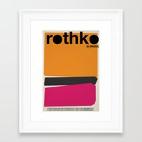 rothko Framed Art Prints featuring rothko by RICCARDO CAPPELLUTI