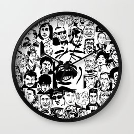 Box Of Assorted Faces Wall Clock