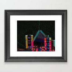 ‎} : -) Framed Art Print