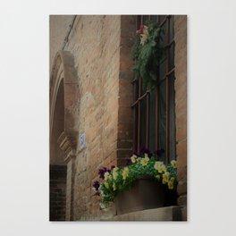 Christmas Window Ferrara Italy Canvas Print