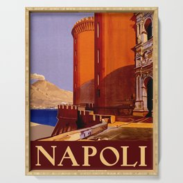 Napoli - Naples Italy Vintage Travel Serving Tray