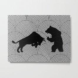 Bear and Bull v6 Metal Print