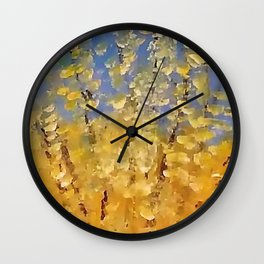 Forsythia Wall Clock