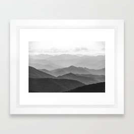 Forest Fade - Black and White Landscape Nature Photography Framed Art Print