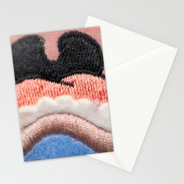 Detail of the muzzle of a bulldog dog in a comic style Stationery Cards