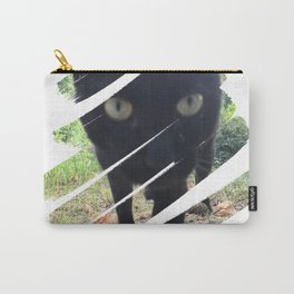 Curious Black Cat Carry-All Pouch