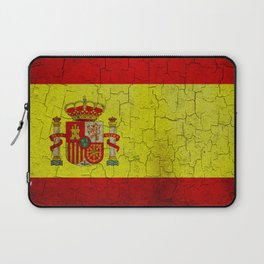 Grunge Spain flag Laptop Sleeve