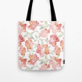 Peach pink azaleas Tote Bag